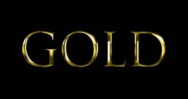 vintage yellow golden metallic with gold word text series symbol sign on black background, concept of golden luxury decoration text