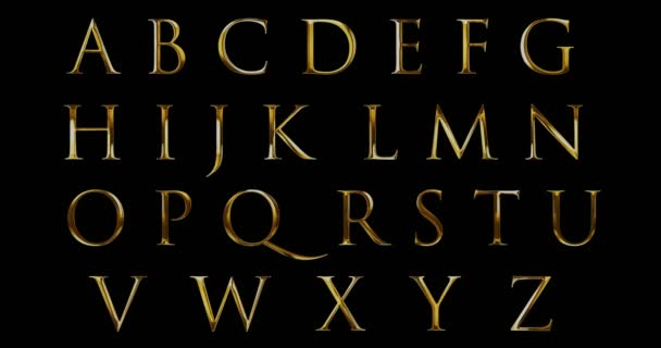 vintage font yellow gold metallic alphabet letters word text series symbol sign on black background, concept of golden luxury alphabet decoration text
