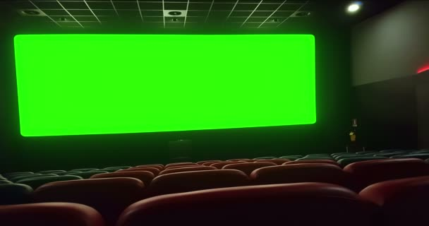 Cinema Interior Movie Theatre Empty Red Seats Copyspace Chroma Key Stock Video C Donfiore1 183680790