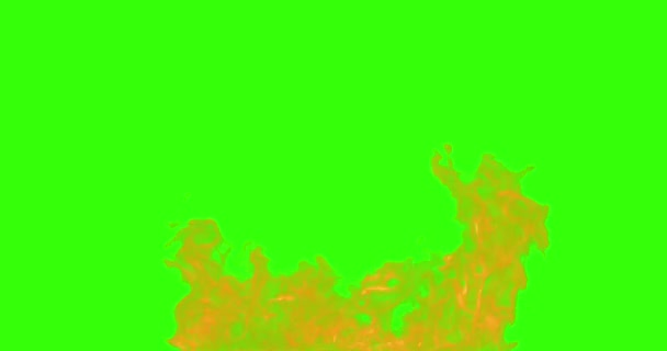 abstract real fire flames burn movement on chroma key green screen, with alpha channel background loop seamless ready