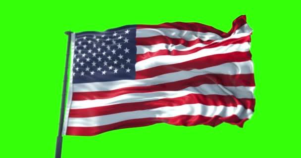 American Usa Flag Pole Stars Stripes United States America Chroma