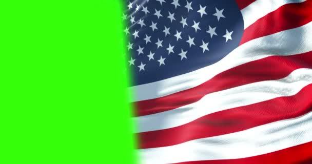 Closeup Half American Usa Flag Stars Stripes United States America