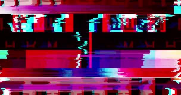 abstrakte mehrfarbige realistische Bildschirmflimmern, analoges Vintage-TV-Signal mit schlechten Interferenzen und Farbbalken, statisch