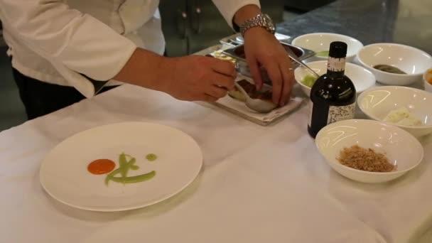 italského šéfkuchaře, obloha jídlo v restauraci