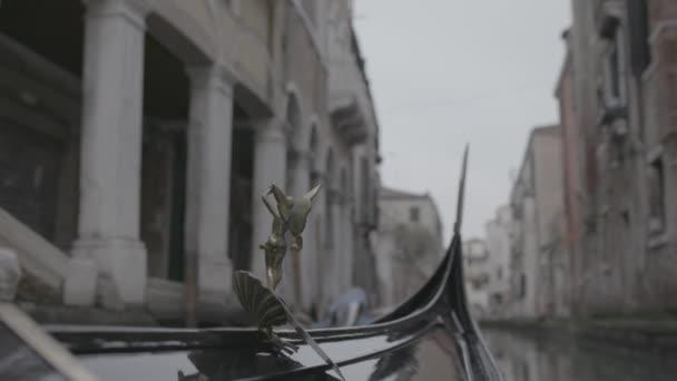 Nézőpont a Gondola evezés a Canal, Velence, Olaszország