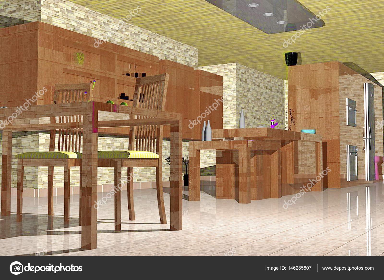 Cocina totalmente equipada con vista abierta piso de sala de estar ...