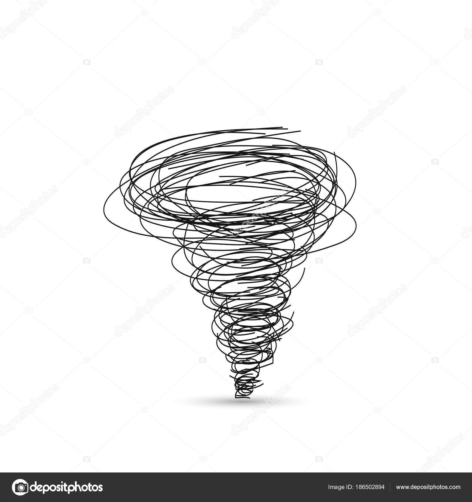 Icono Tornado Aislado Sobre Fondo Blanco — Archivo Imágenes ...