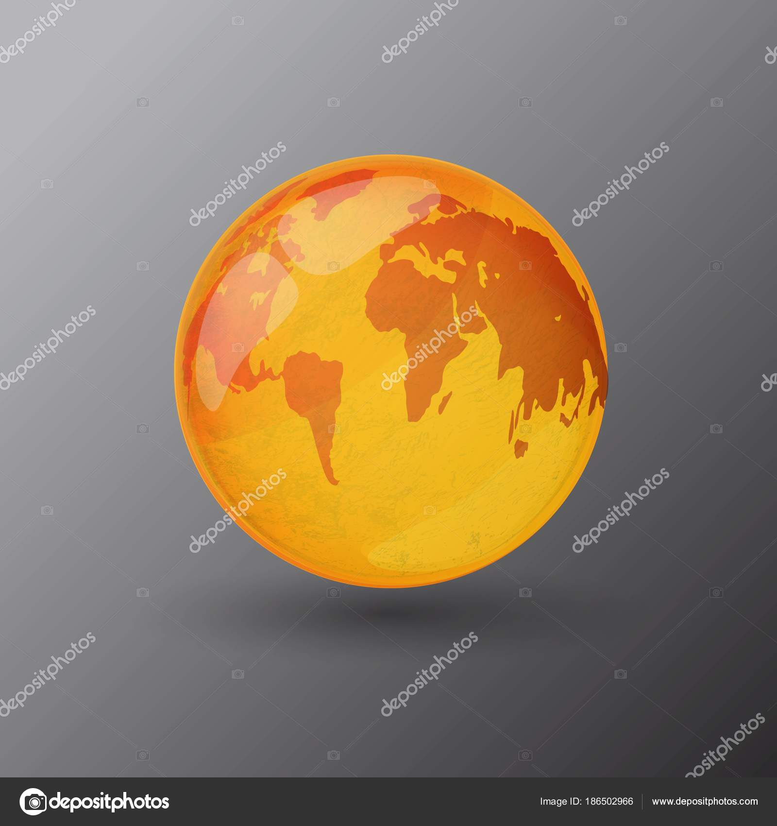 Yellow world map icon grey bnackground stock vector slasny1988 yellow world map icon grey bnackground stock vector gumiabroncs Choice Image