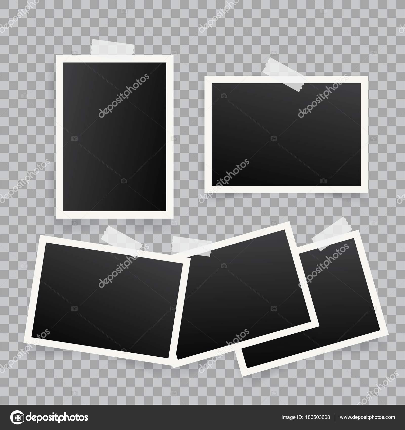 コピー領域に添付されているポラロイド写真フレーム テンプレート