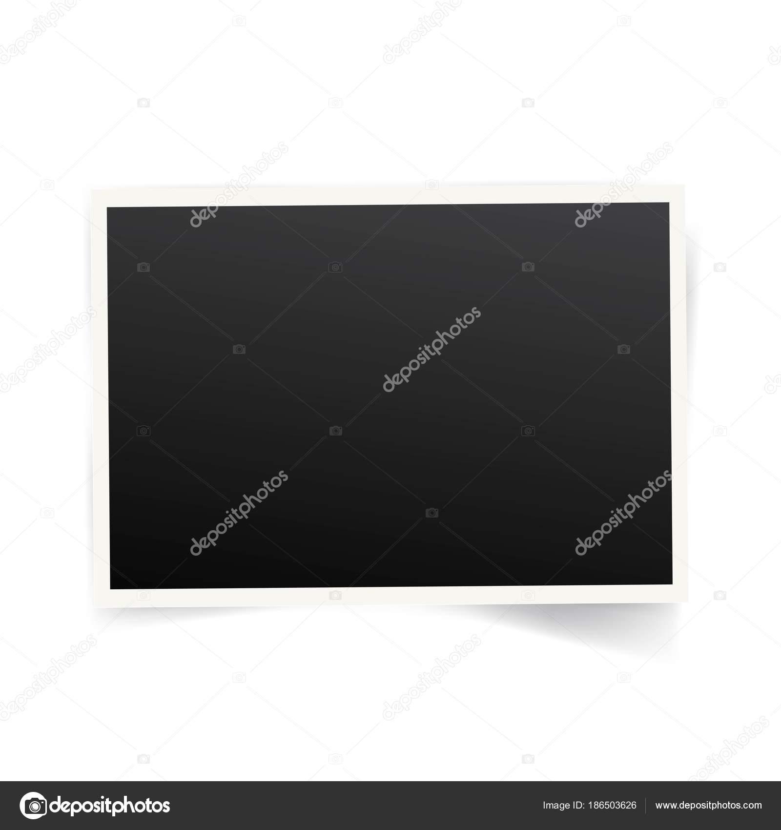 コピー領域が白い背景で隔離のポラロイド写真フレーム テンプレート