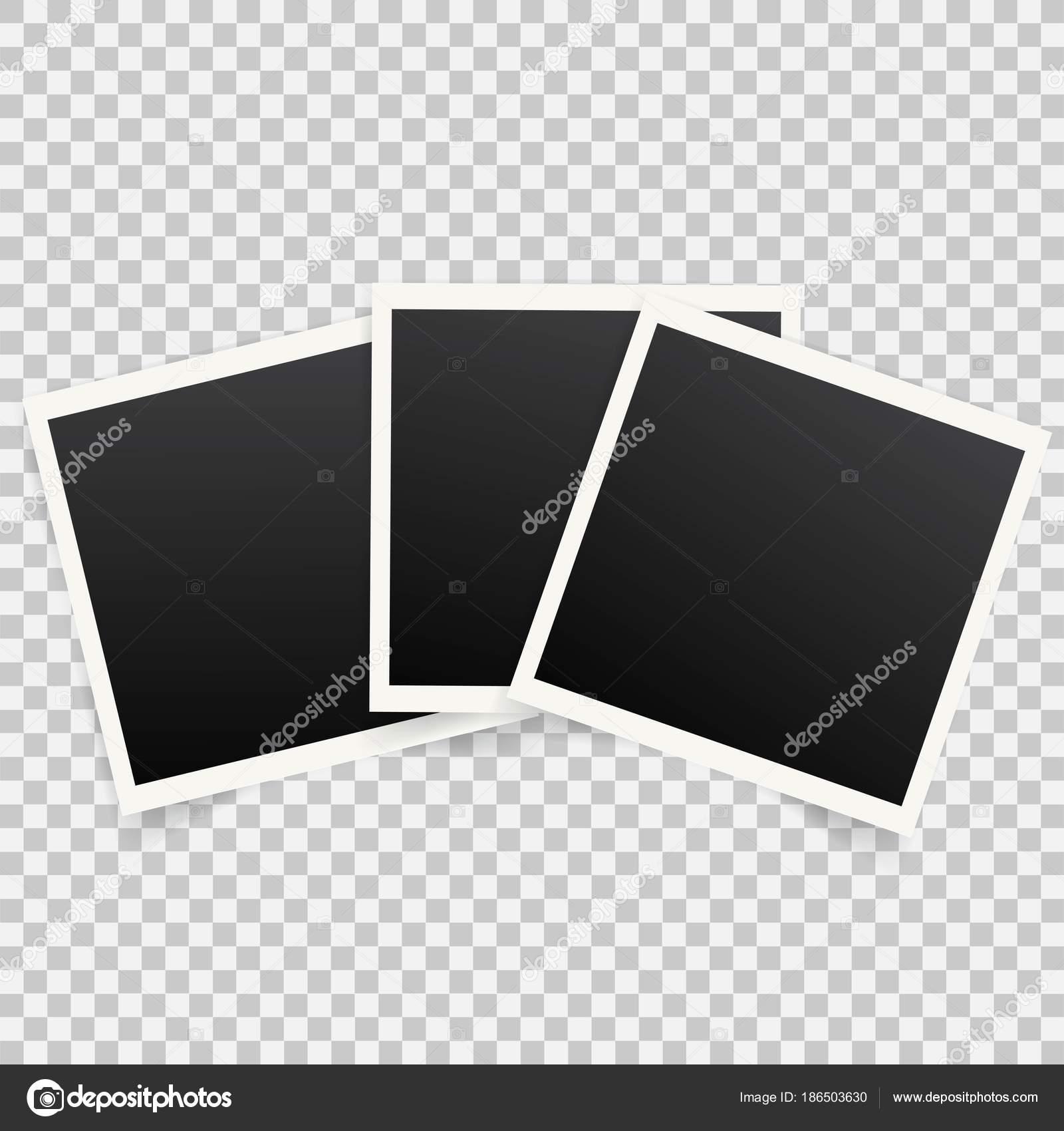 Polaroid Photo Frames Template Copy Space Stock Vector