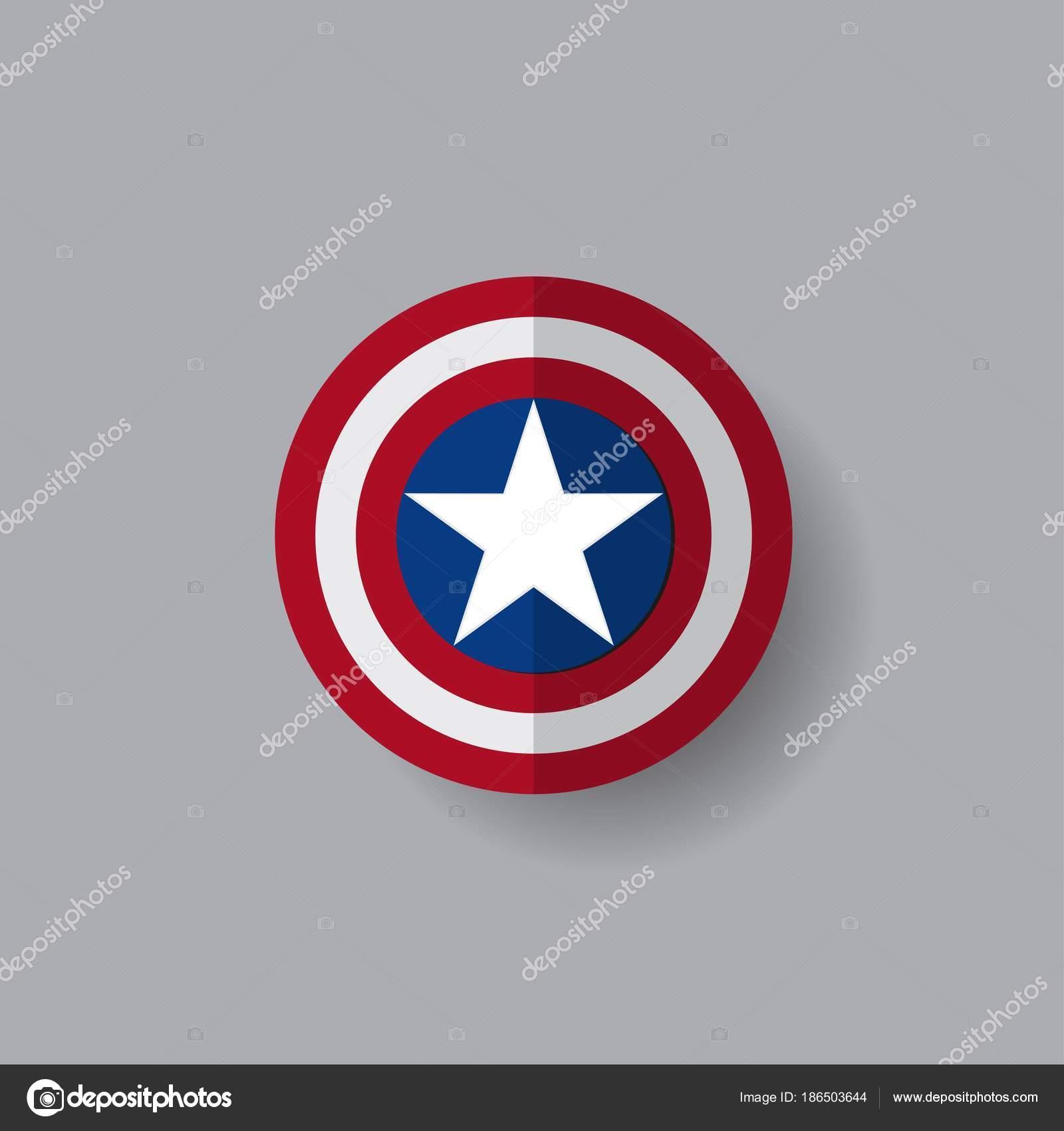 Superhero Shield Star Grey Background — Stock Vector