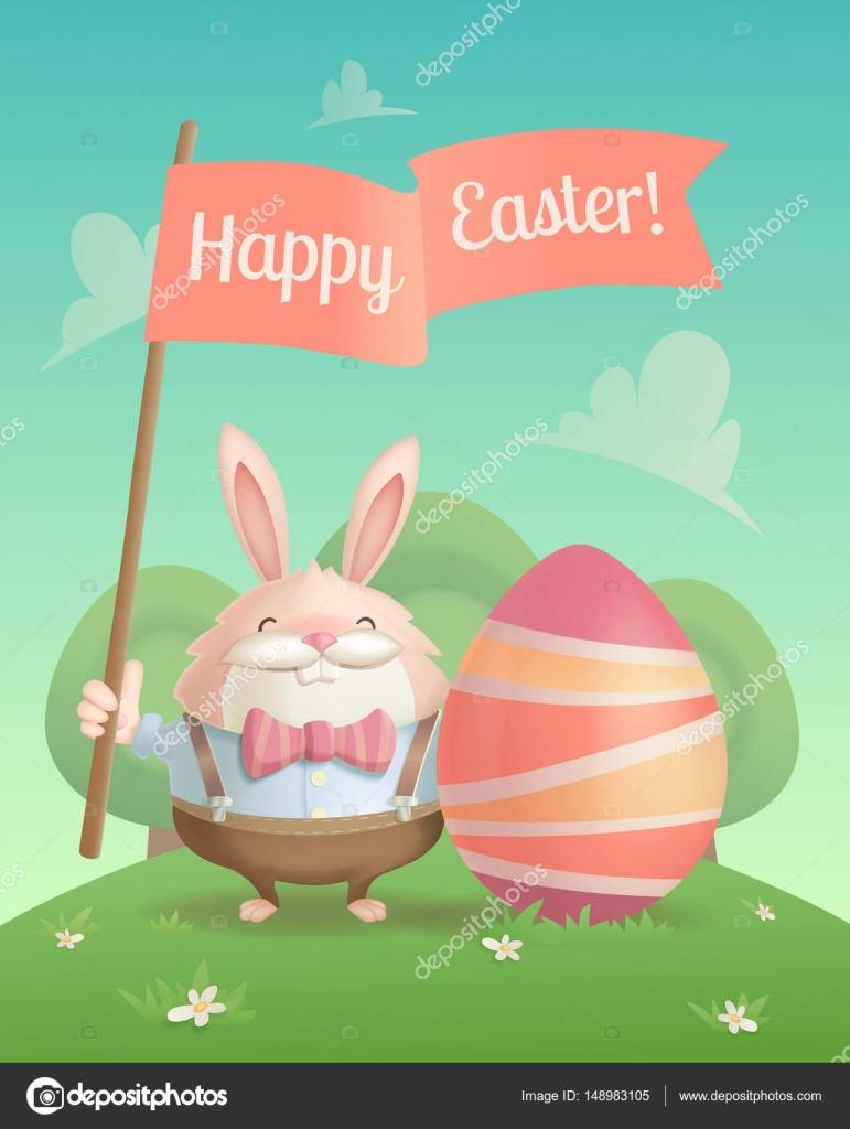 Happy Easter Greeting Card Stock Vector Vudgert 148983105