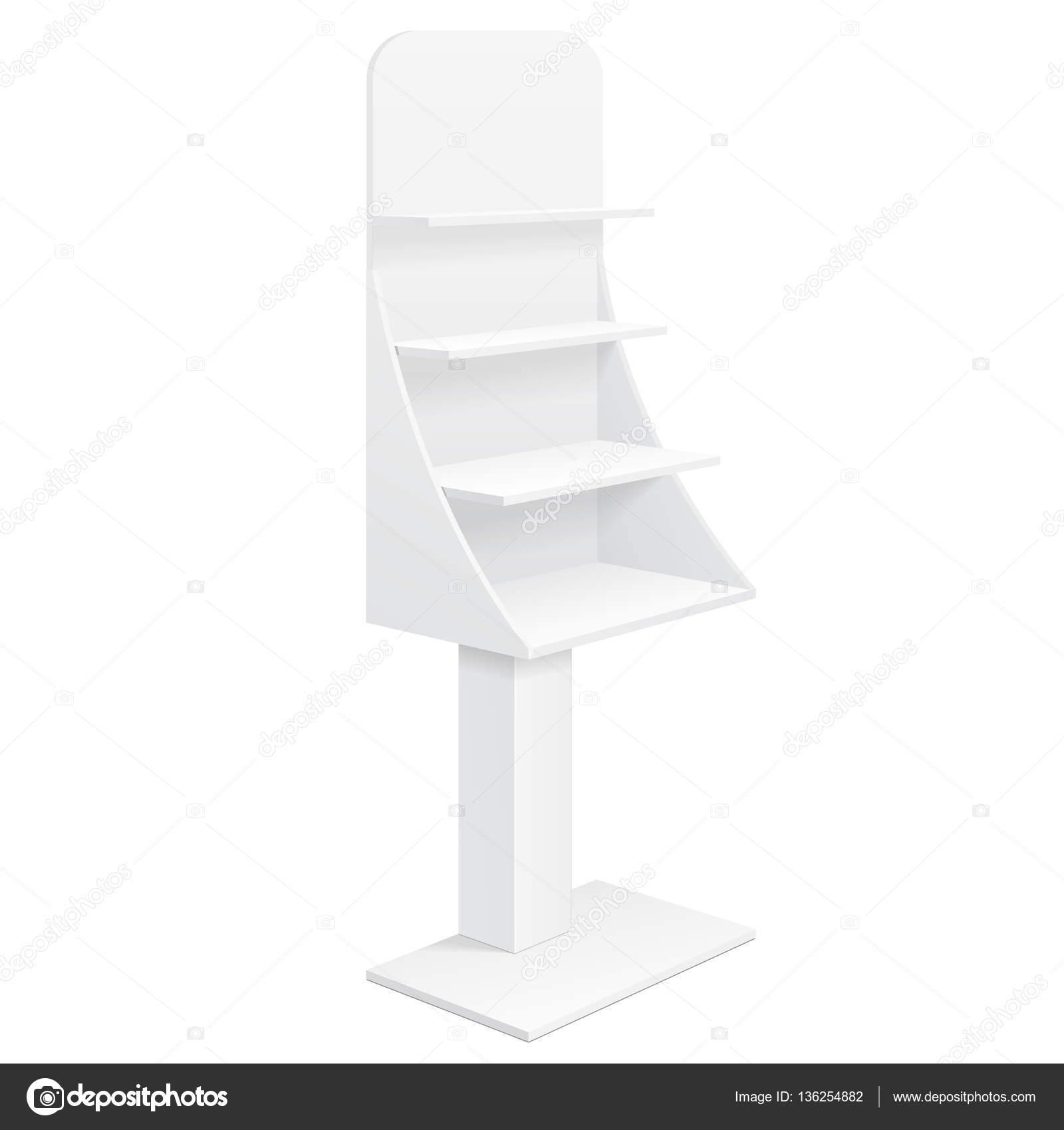 Tabletop Stand Cardboard Floor Display Rack For Supermarket Blank Empty Displays With Shelves S Mock