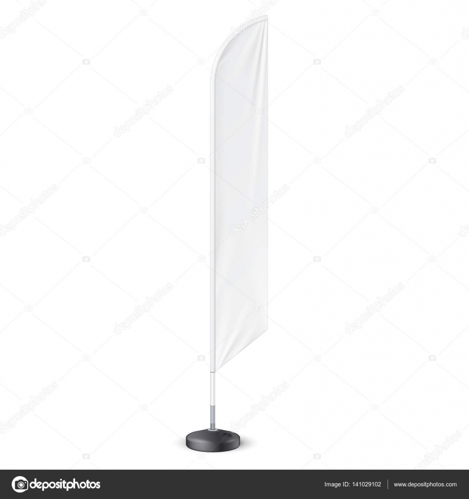 Outdoor Feather Flag With Ground Fillable Water Base Stand. Banner ...