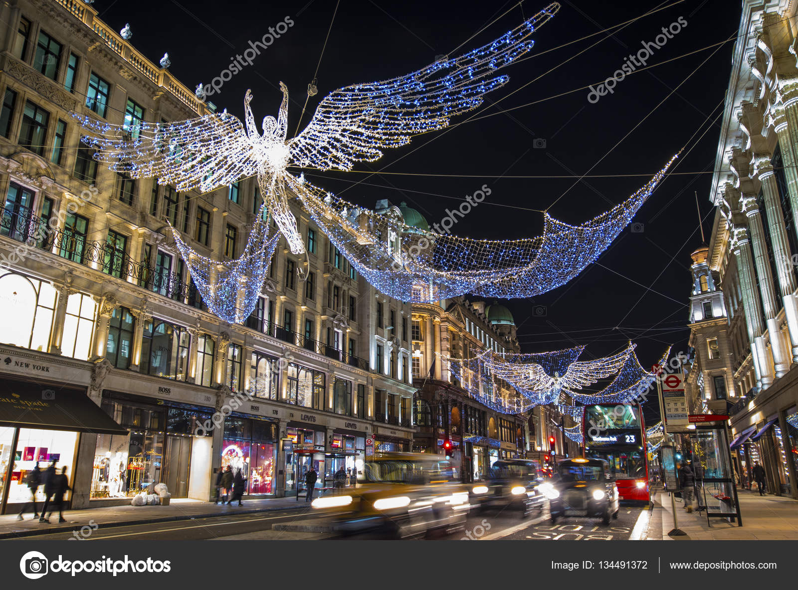 Awesome LONDON, UK   NOVEMBER 29TH 2016: A View Of The Beautiful Christmas Lights  In Regent Street, Central London, On 29th November 2016. U2014 Photo By  Chrisdorney