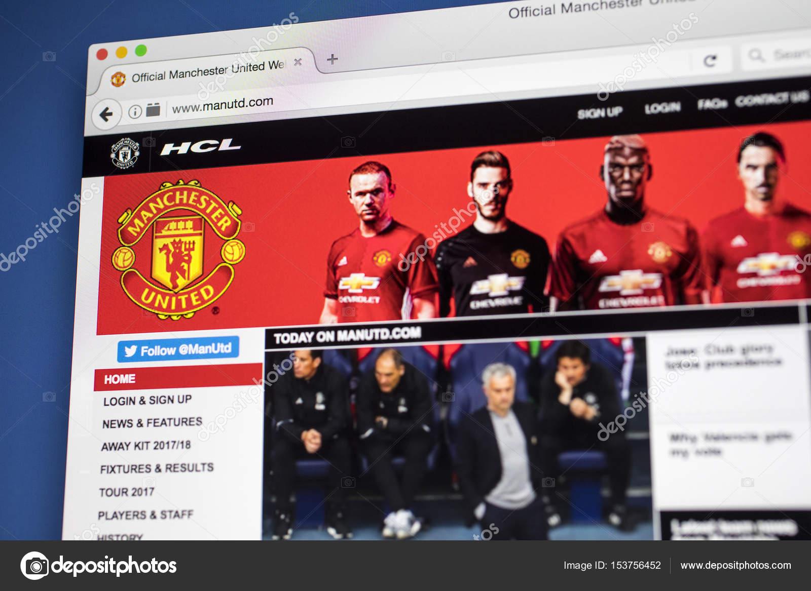 Офицальный сайт футболного клуба манчестер юнайтед