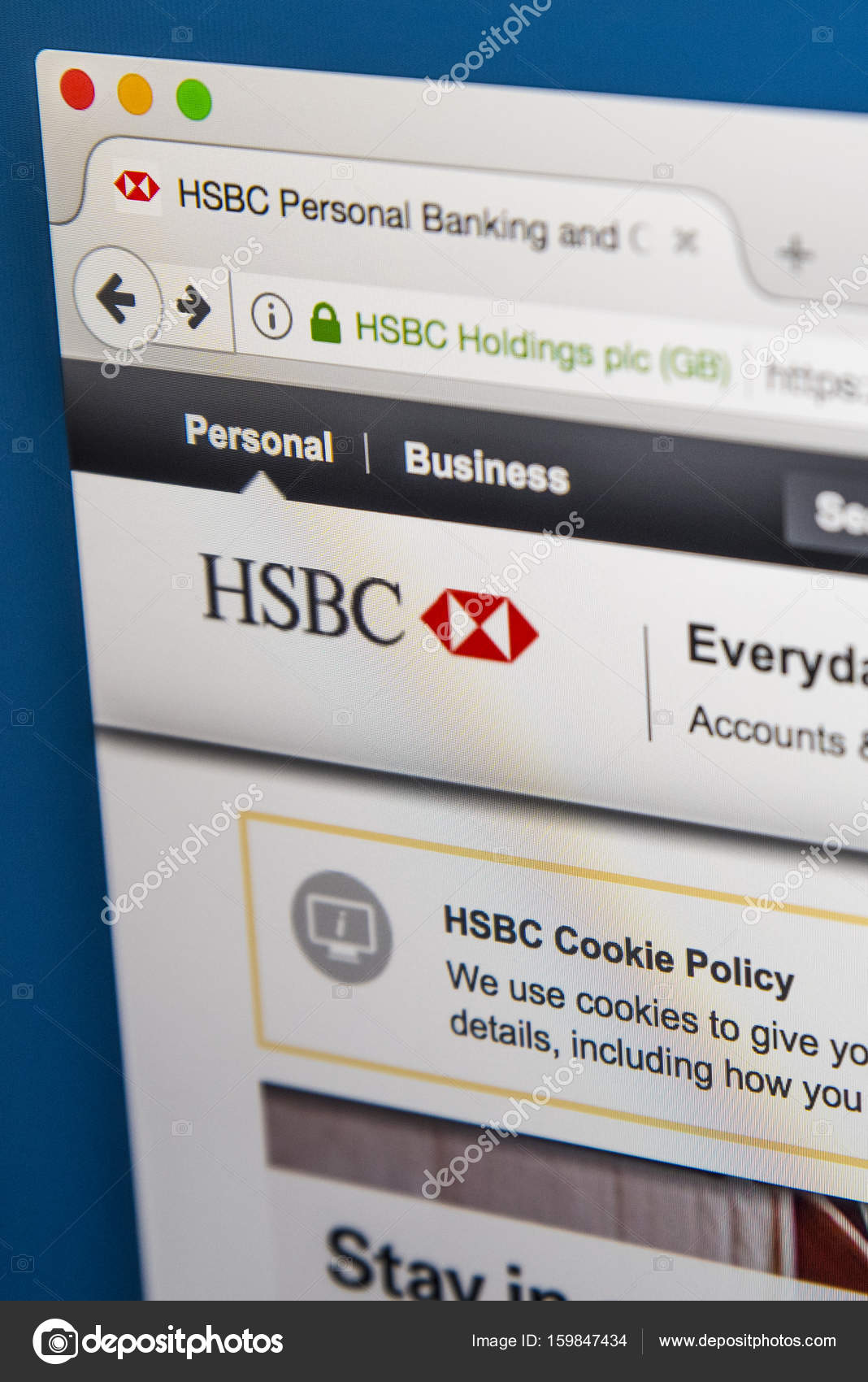HSBC Official Website – Stock Editorial Photo © chrisdorney