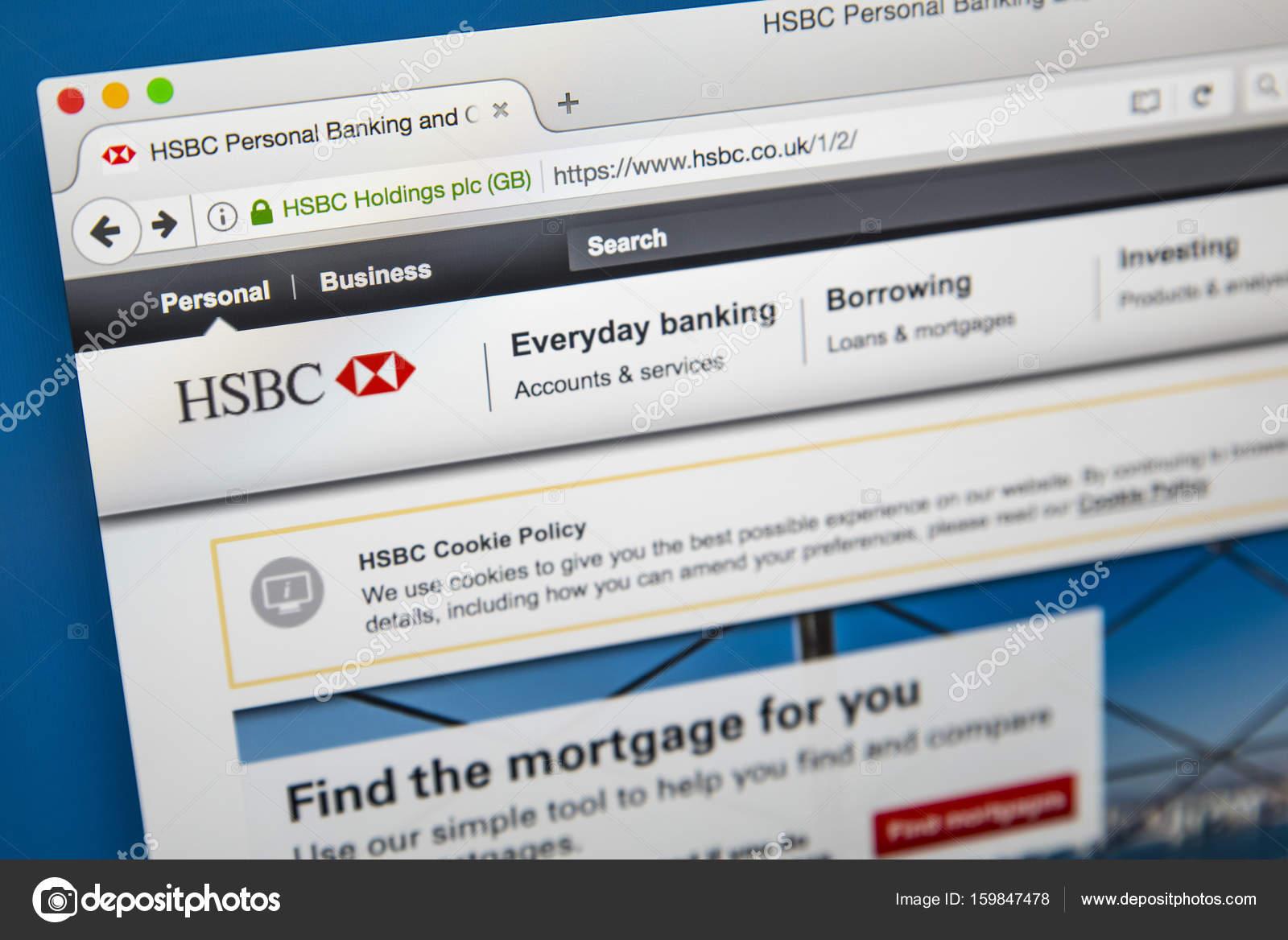 HSBC Official Website – Stock Editorial Photo © chrisdorney #159847478