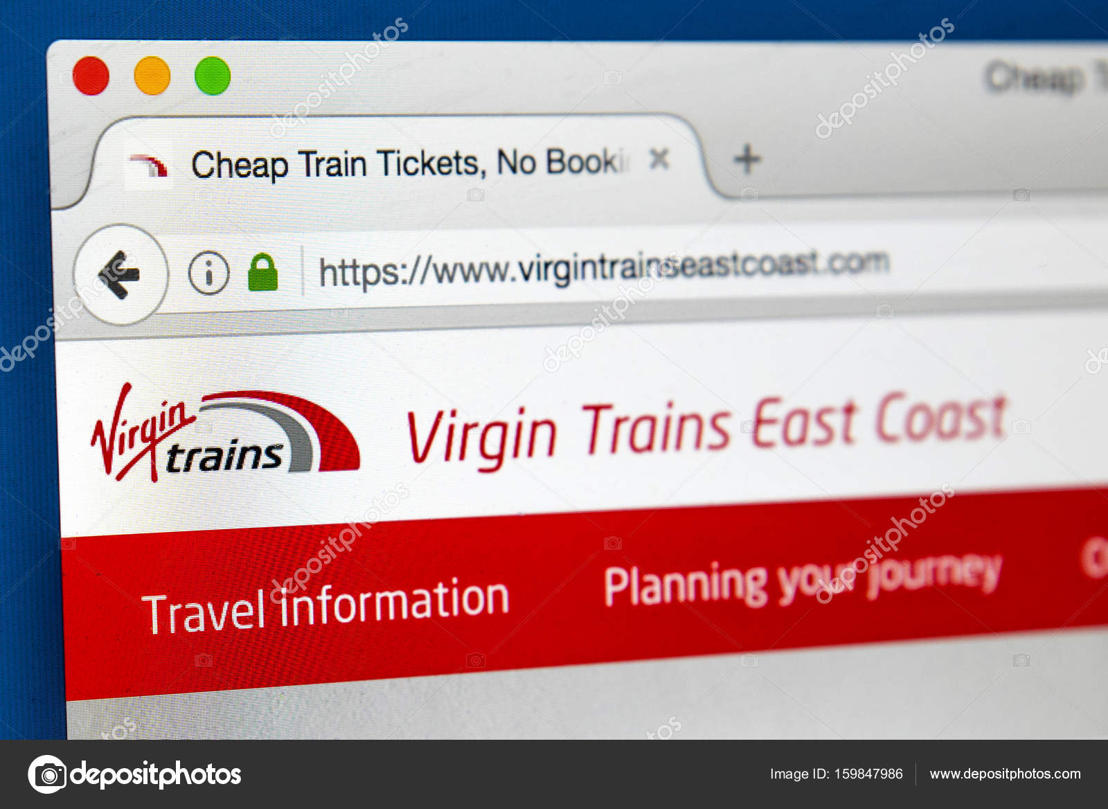 trains homepage Virgin