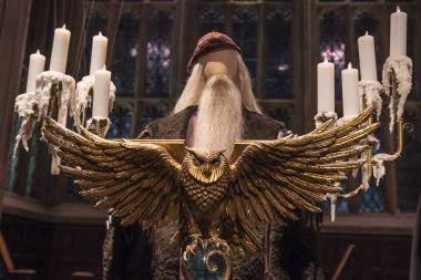 Owl Lecturn in the Great Hall at Hogwarts