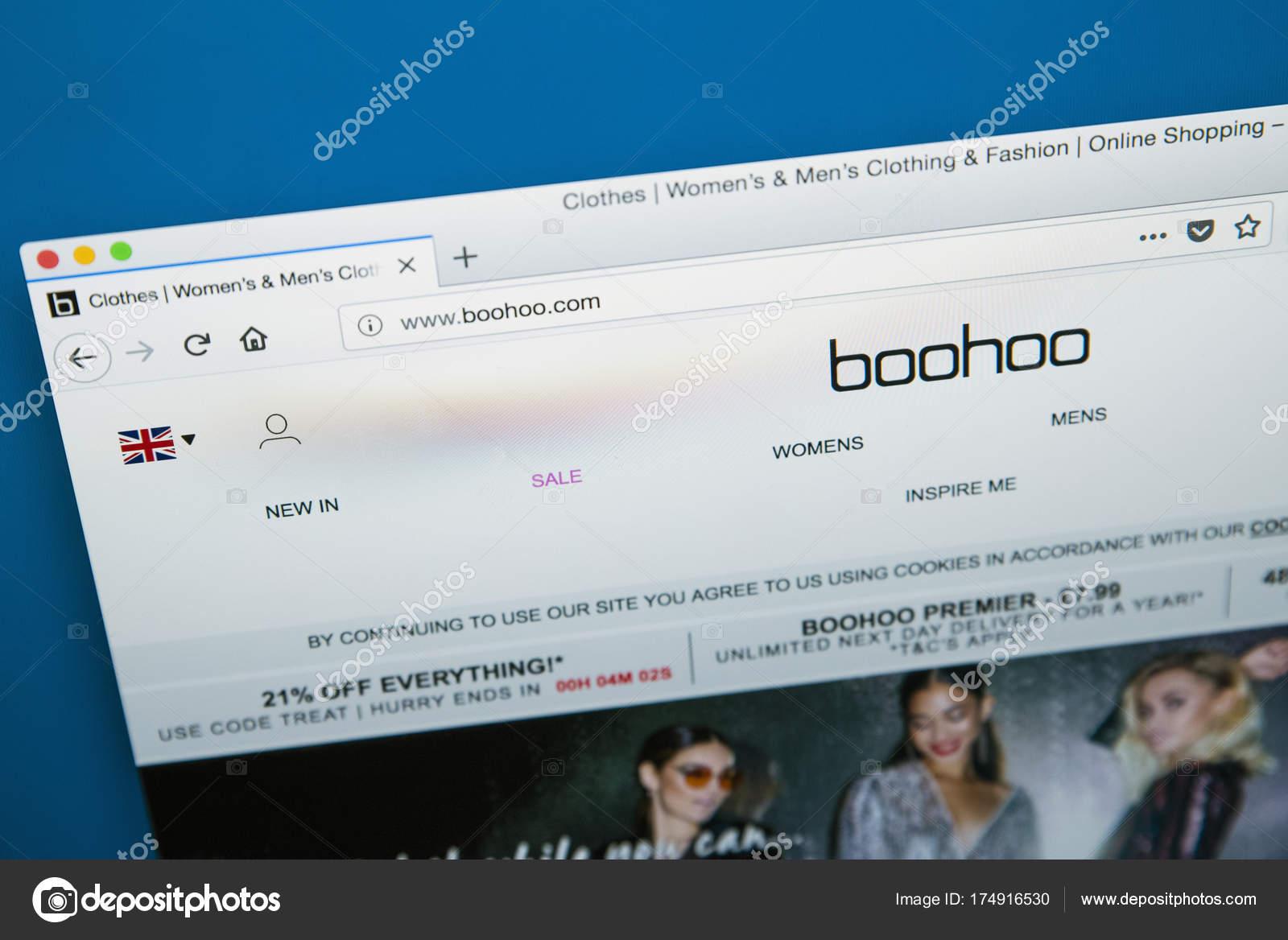 965fa79c2a Boohoo Clothing Website – Stock Editorial Photo © chrisdorney #174916530
