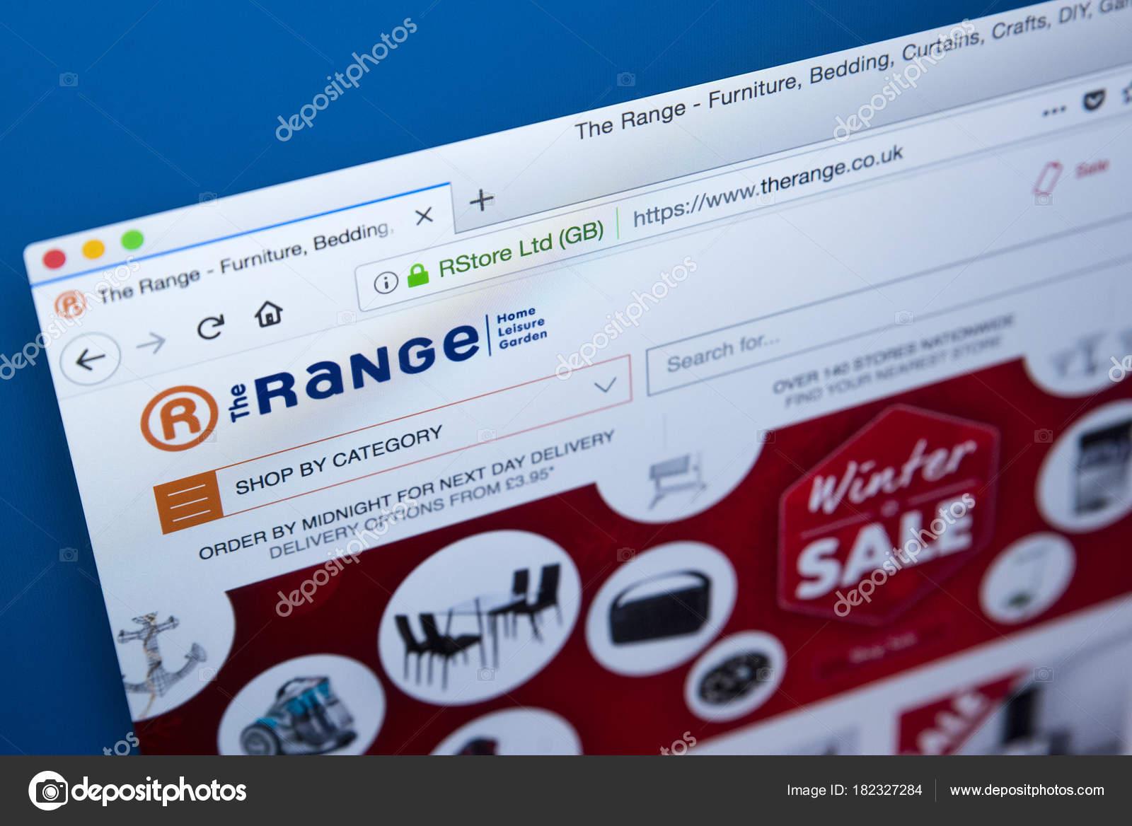 5c0b508bf9 El sitio web de la compañía de gama — Foto editorial de stock ...