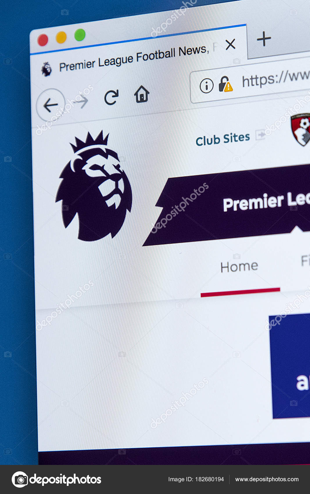 English Premier League Website Stock Editorial Photo Chrisdorney