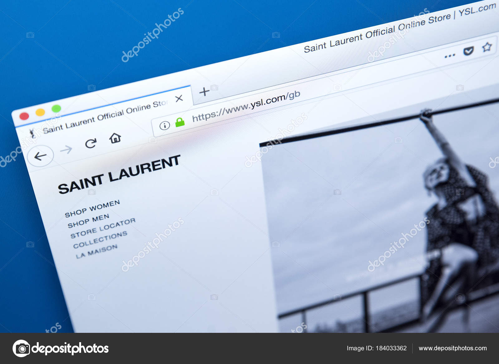 c682c95061c Yves Saint Laurent Website – Stock Editorial Photo © chrisdorney ...