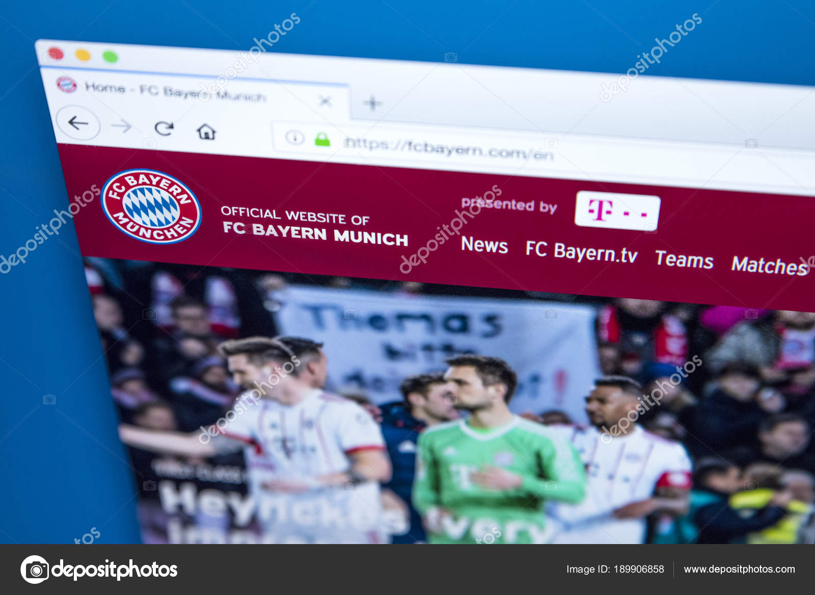 Офицальный сайт футбольной команды бавария