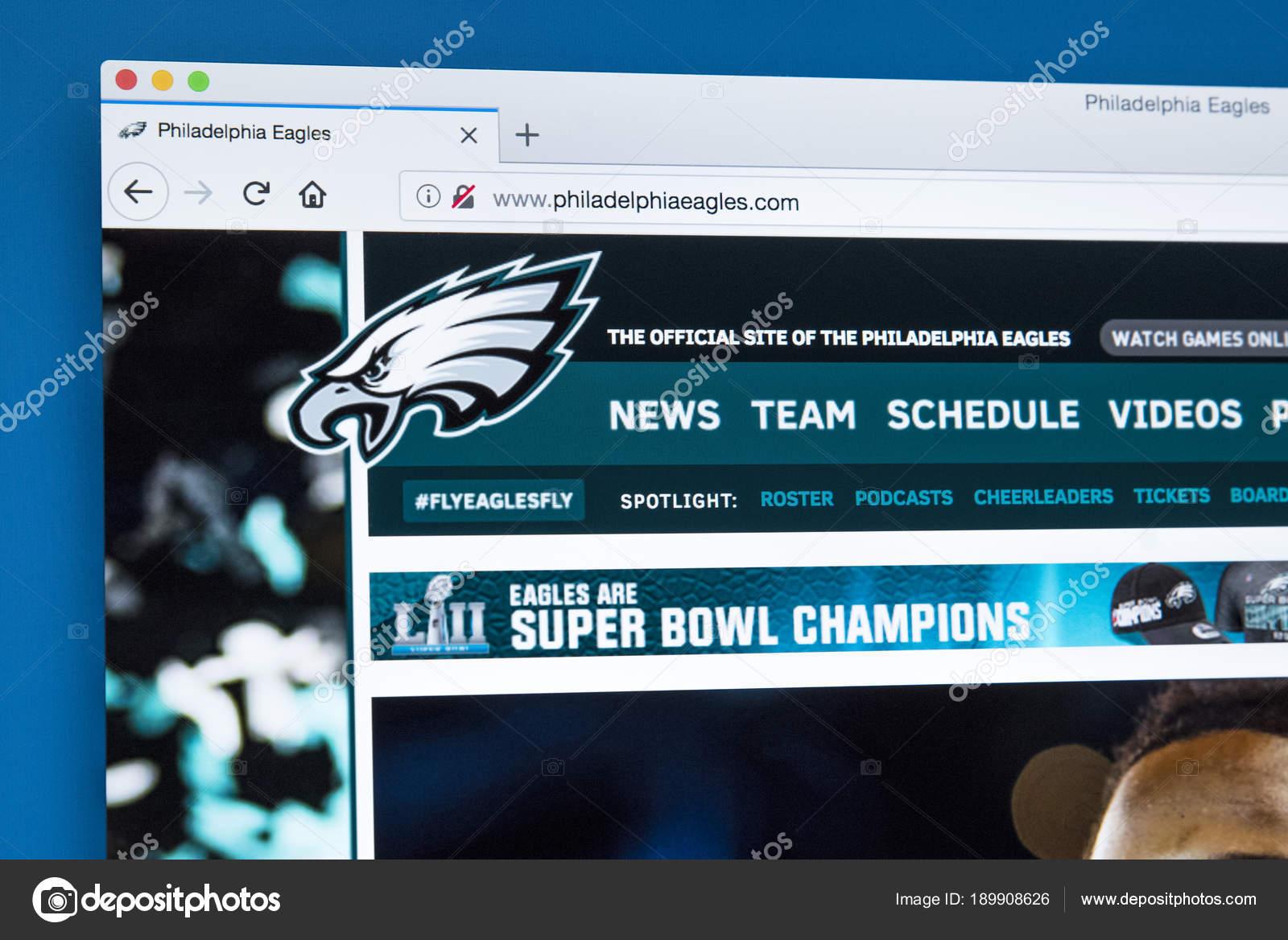 Philadelphia Eagles Website – Stock Editorial Photo © chrisdorney ...