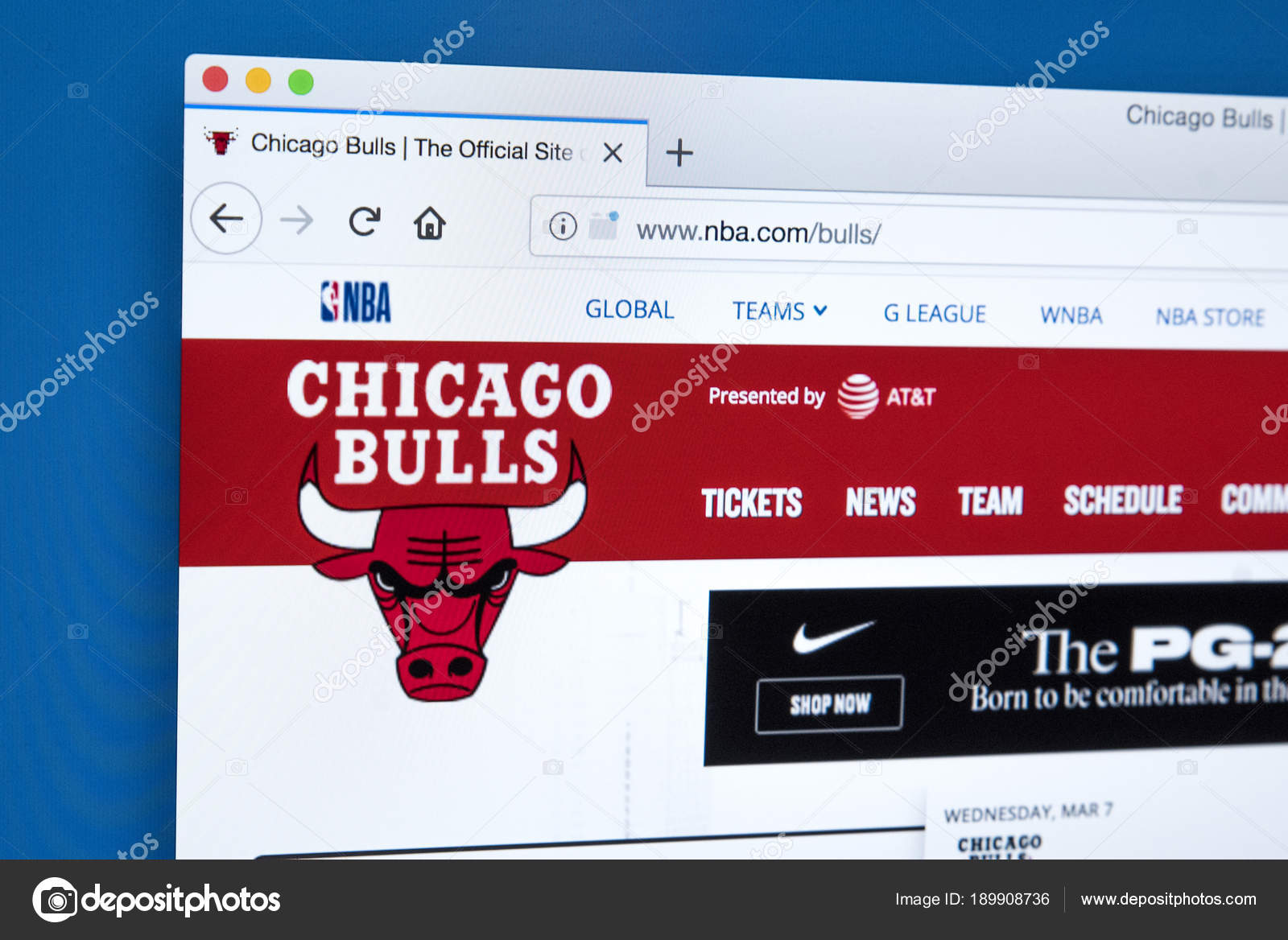 Chicago Bulls Website – Stock Editorial Photo © chrisdorney