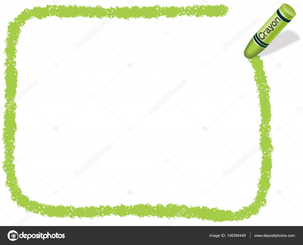 A yellow-green, rectangular message frame drew with a yellow-green ...