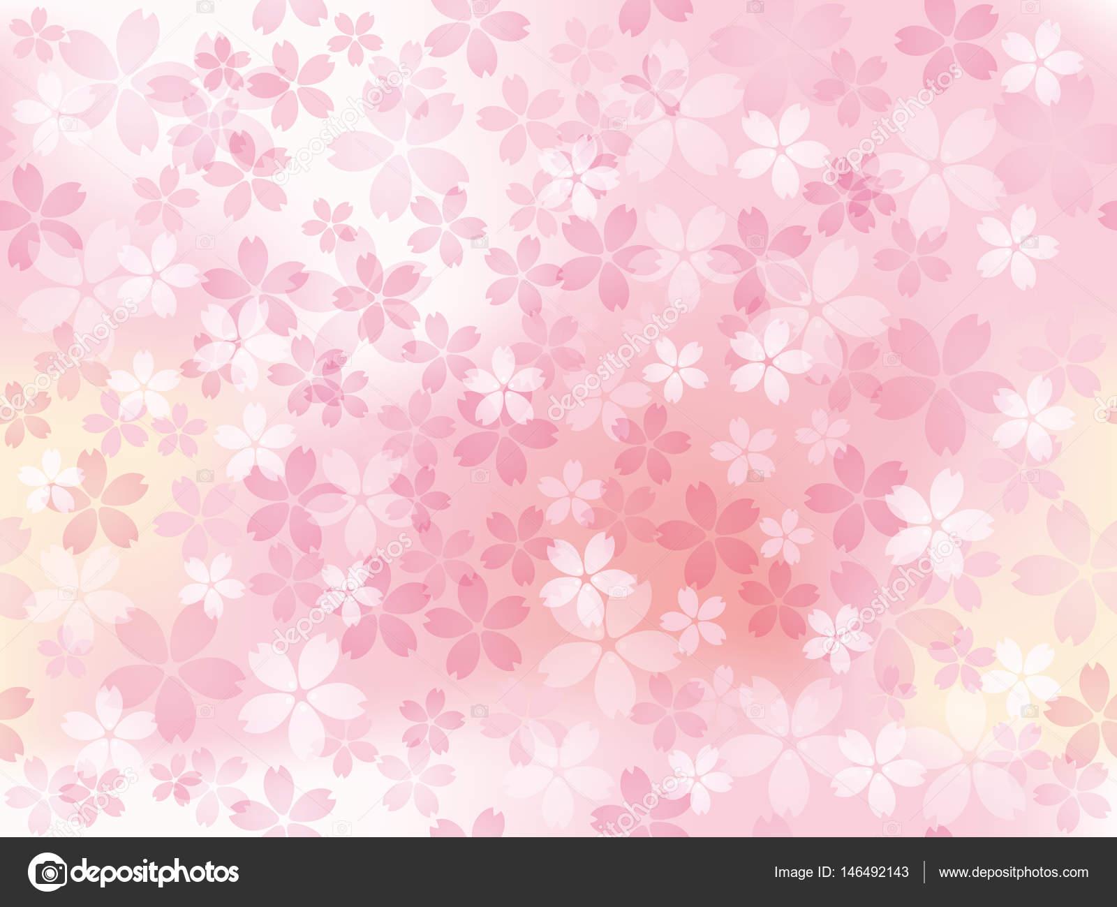 満開の桜とベクトル背景イラスト — ストックベクター © callmetak #146492143