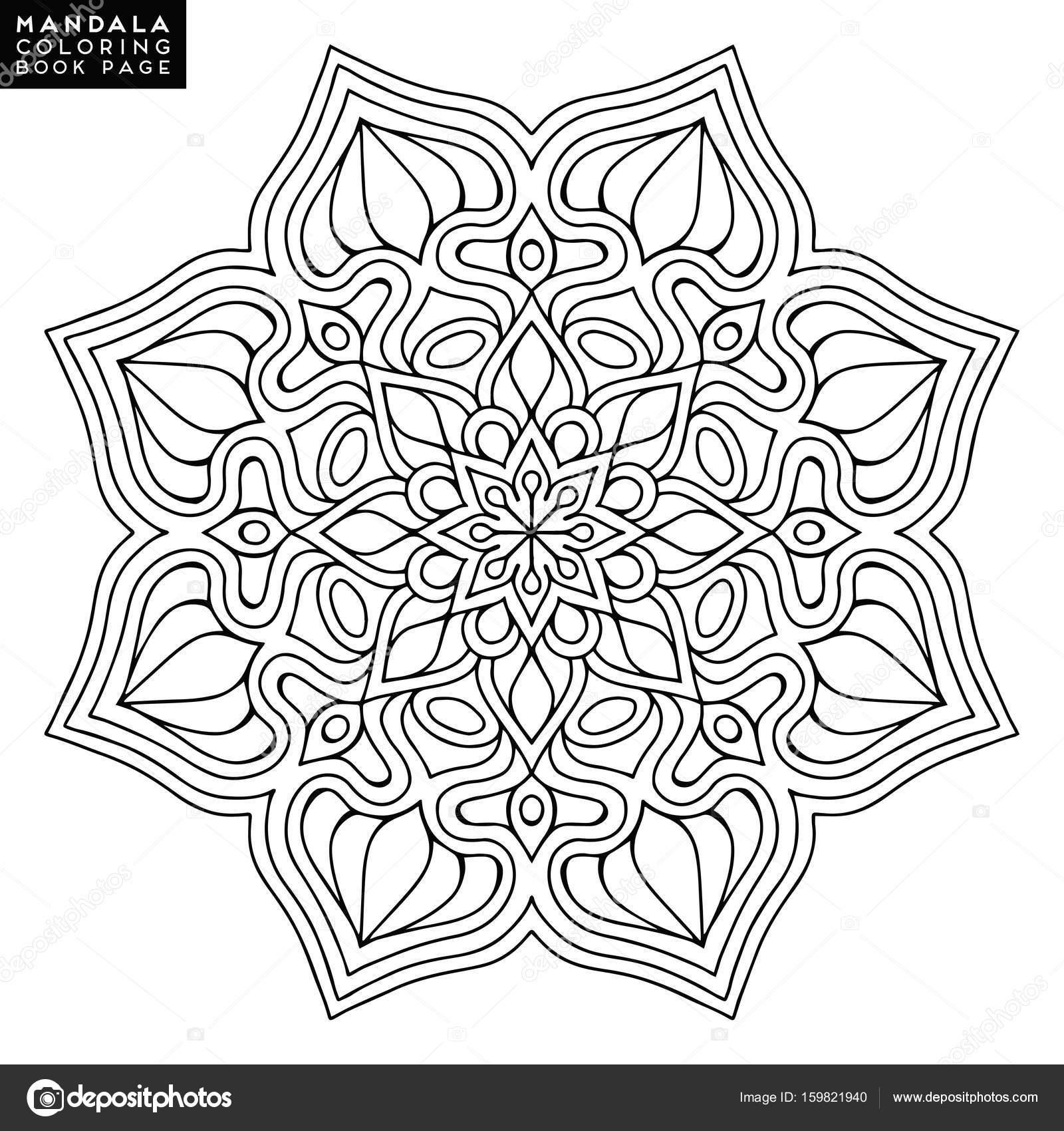 Mandala de la flor. Elementos decorativos vintage. Modelo oriental ...