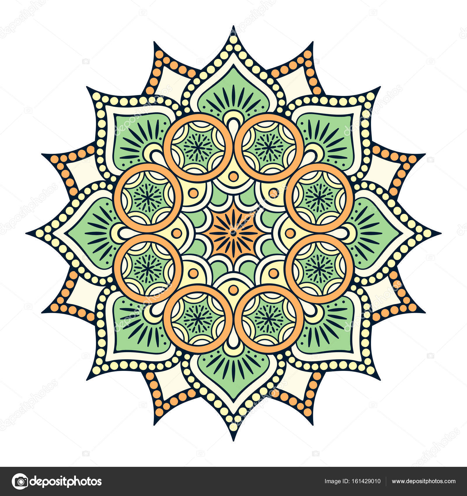 Mandala Bloem Vintage Decoratieve Elementen Oosterse