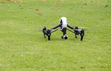 Close up of an aerial drone