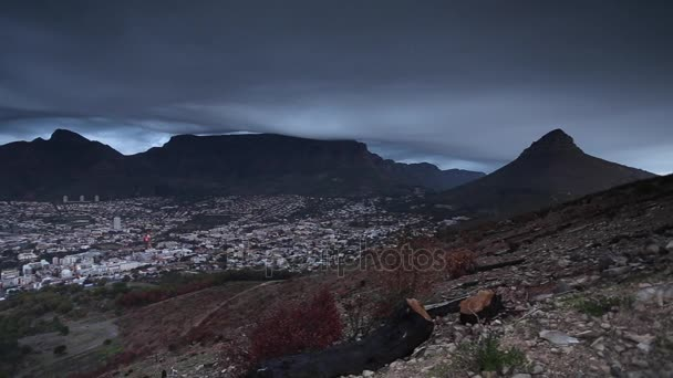 Signal Hill at dusk over the Cape Town