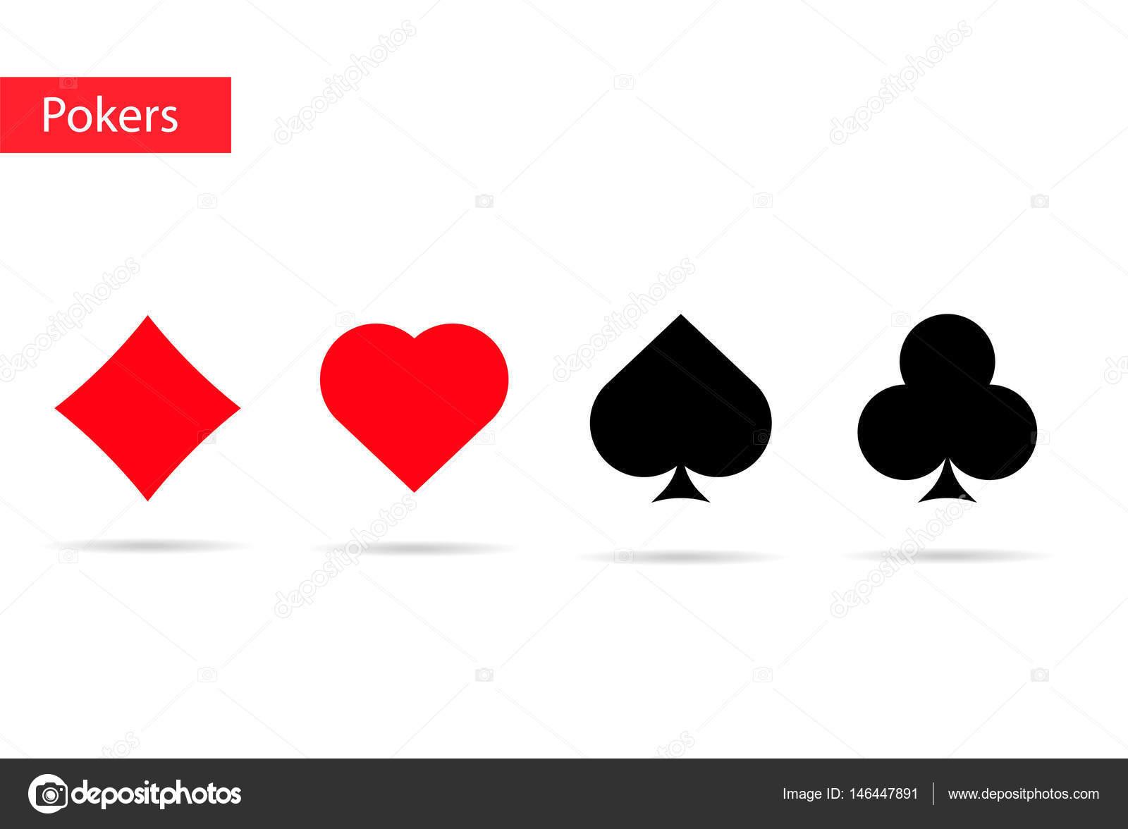 Playing Cards Symbols Pokers Stock Vector Dezidezi 146447891