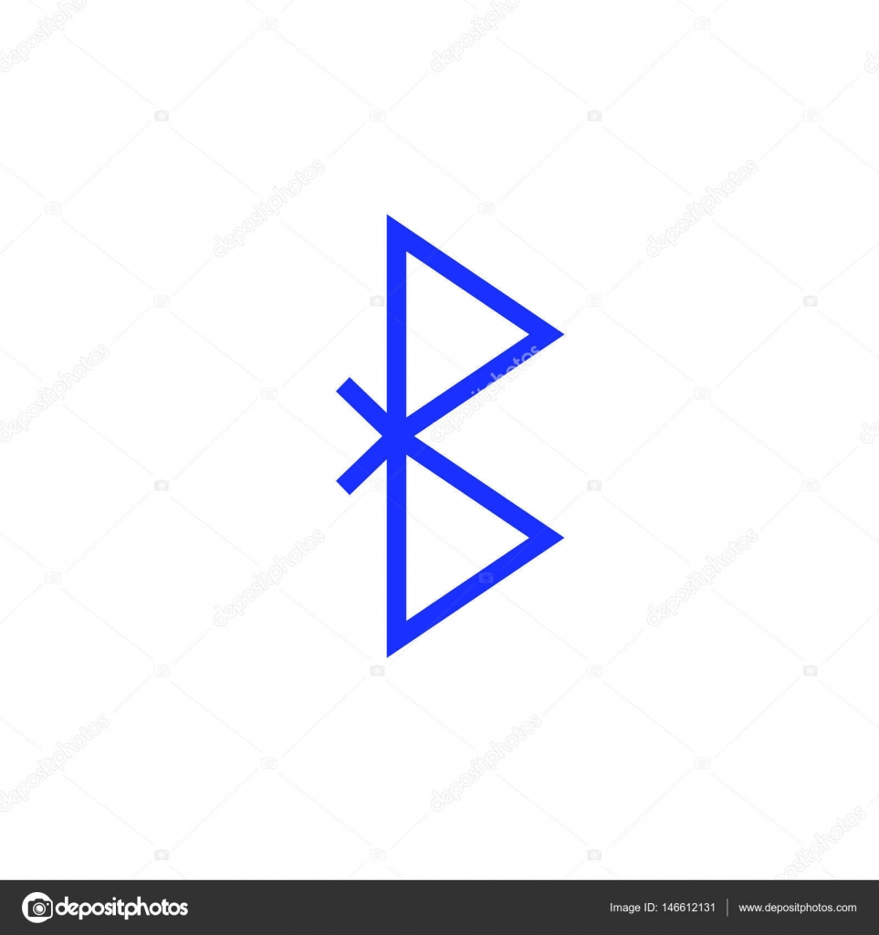 Bluetooth Vector Symbol Wireless Connection Blue Sign Stock