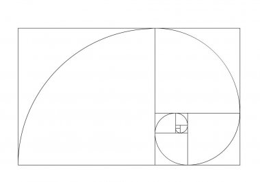 golden ratio template vector. Golden section frame