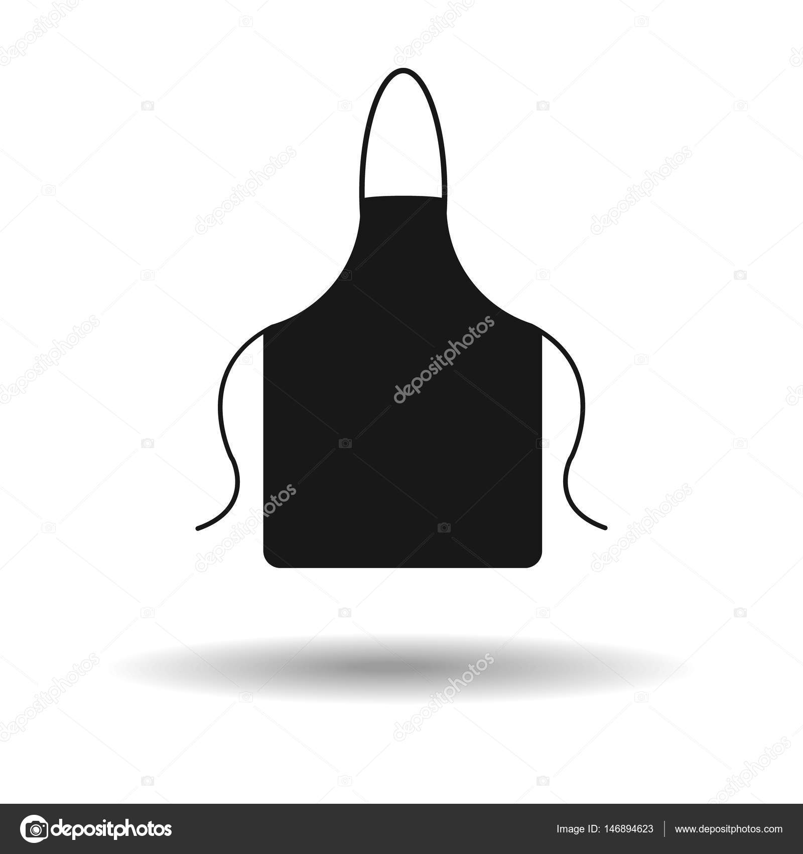 apron icon. kitchen apron vector illustration with shadow — Stock ...