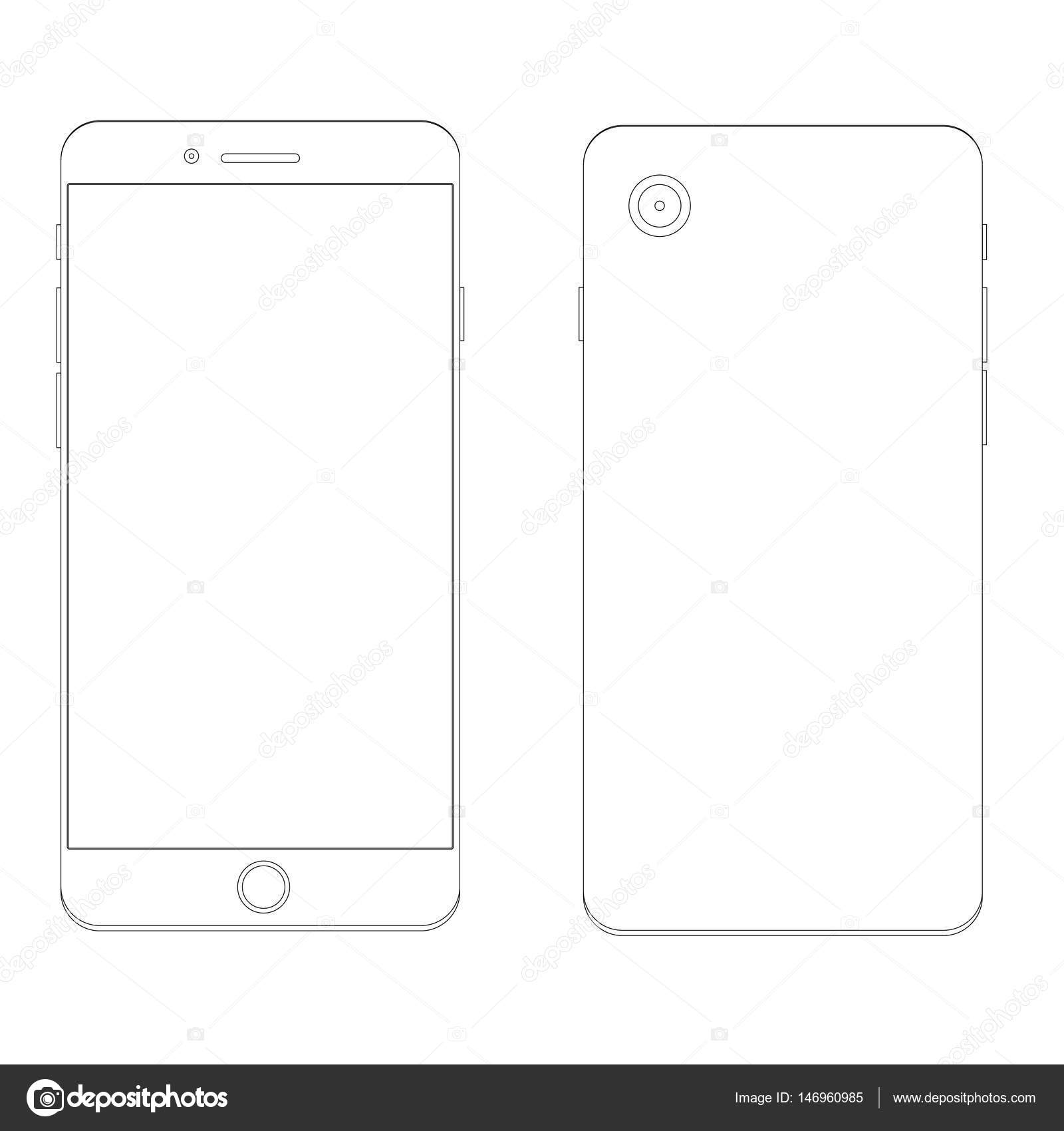mobile phone template