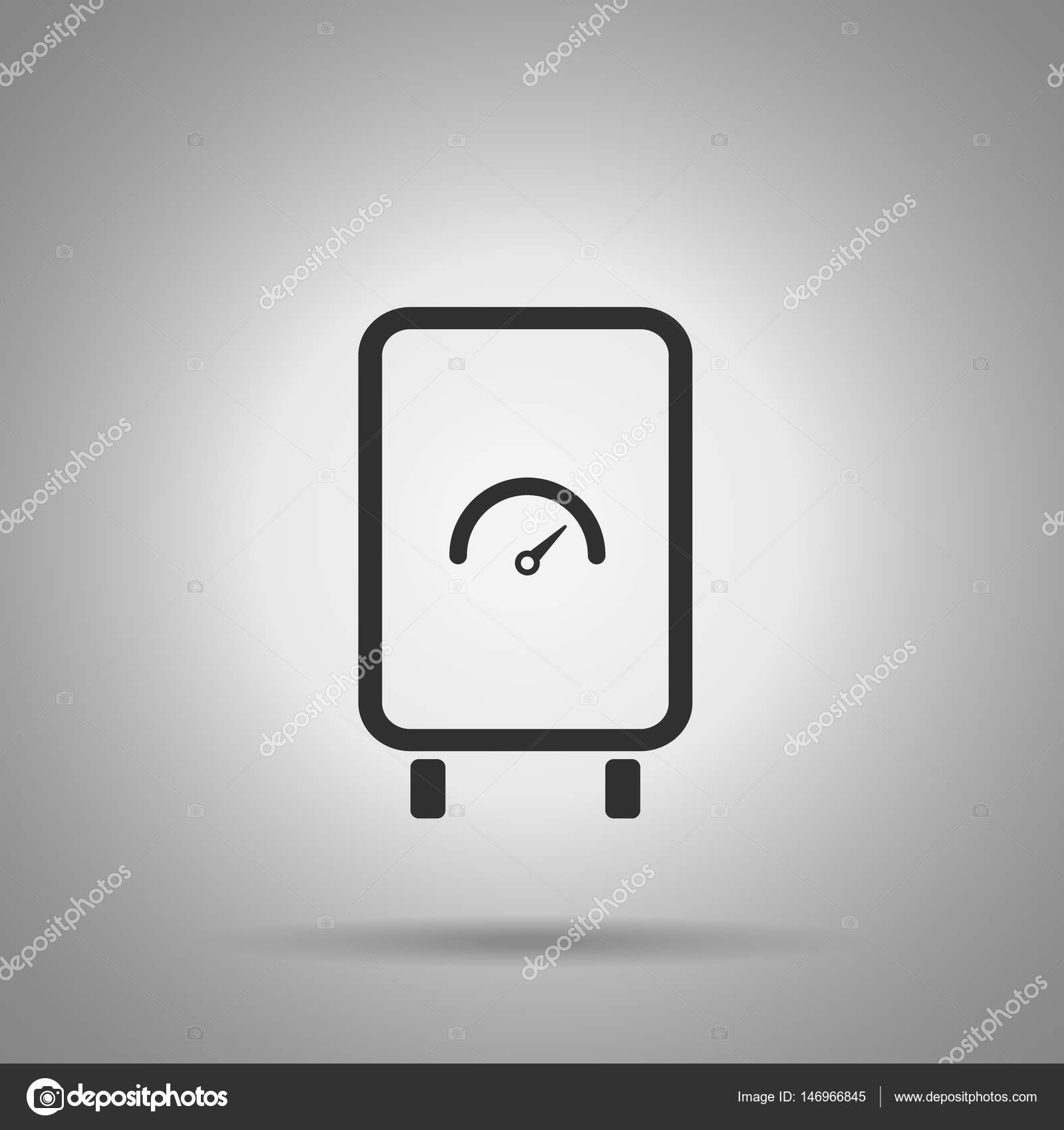 boiler icon. Water heat element . Simple boiler icon — Stock Vector ...