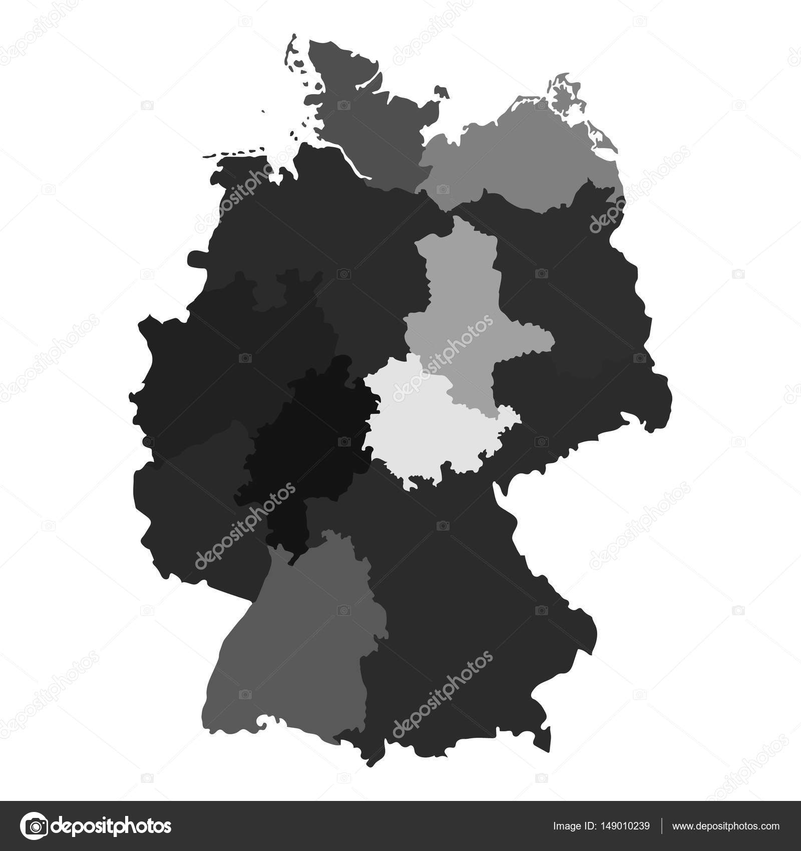 Map Of Germany Divided.Germany Map Divided On Regions For Infographic Stock Vector