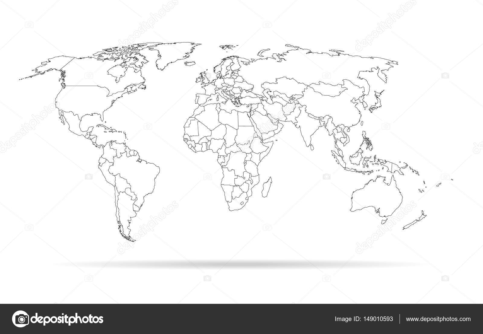 Sketch outline world map high detailed template with isolated sketch outline world map high detailed template with isolated countries stock vector gumiabroncs Images