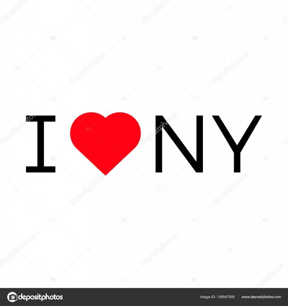 I Love Ny Popular Symbol Illustration Heart Stock Vector