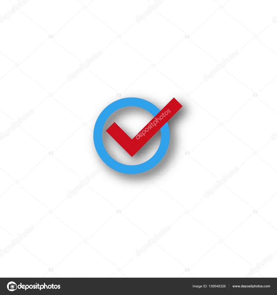 Check Mark Symbol Stock Vector Dezidezi 159548326