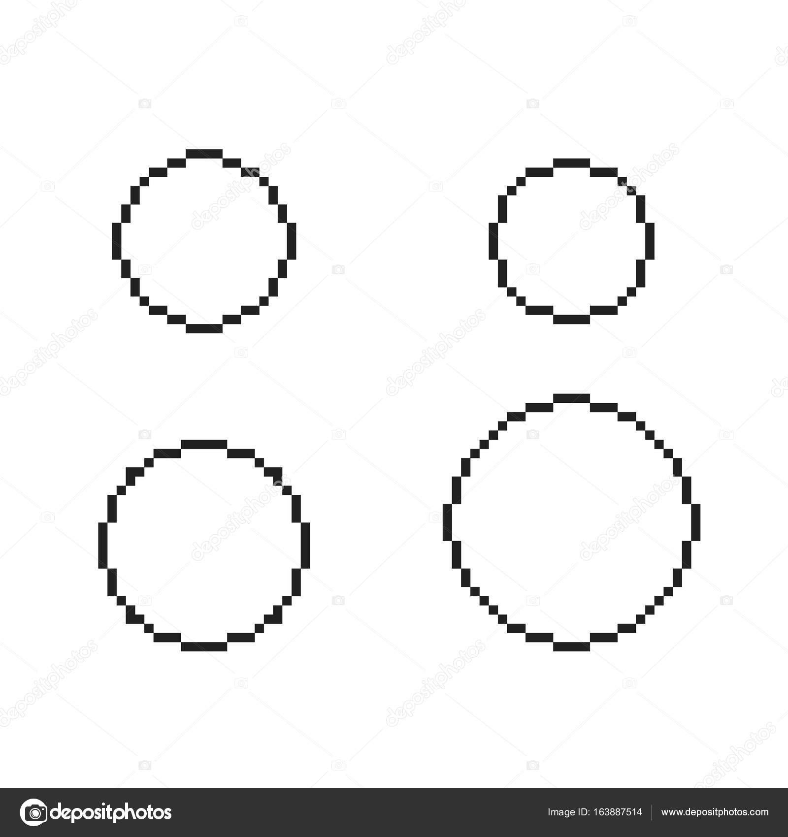 pixel circles set stock vector dezidezi 163887514