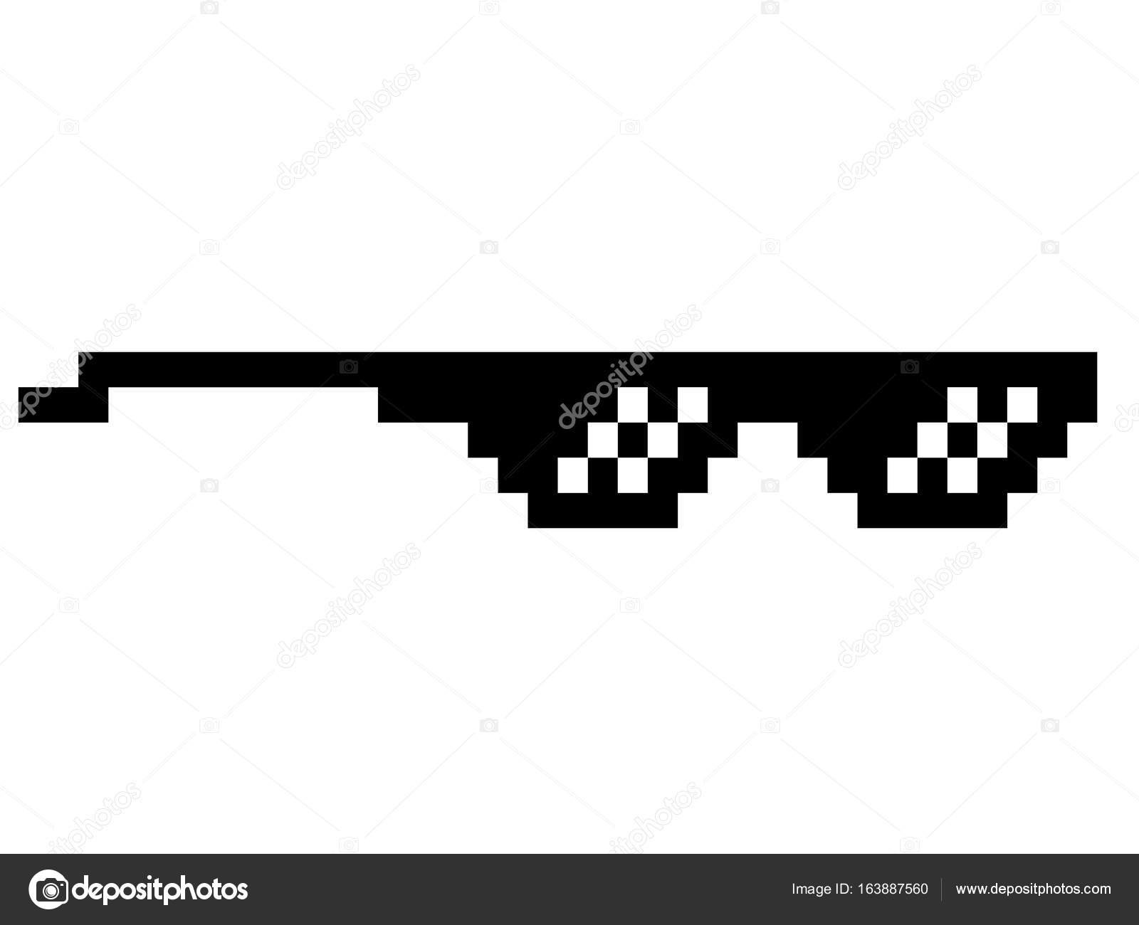 Deal With It Glasses Pixel Art Black Thug Life Meme Like